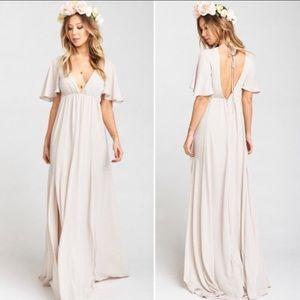 NWT SMYM Show me the Ring Faye Flutter Maxi Dress